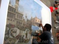 Pintor callejero. La Rochelle